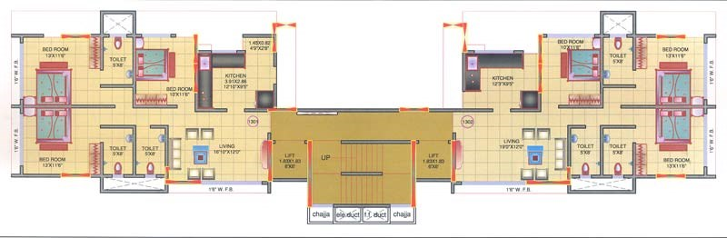 Mohini Tower 13th Floor Plan
