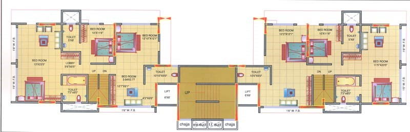 Mohini Tower 15th Floor Plan