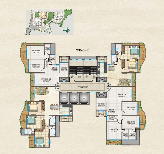Raj Splendour Floor Plan