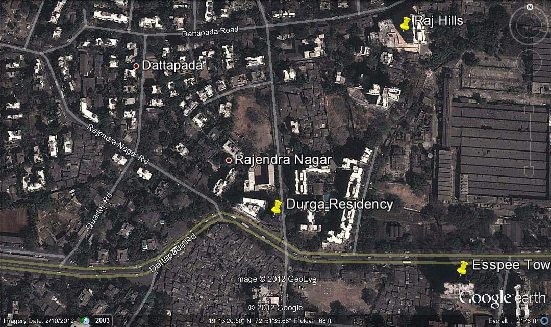 Durga Residency Google Earth