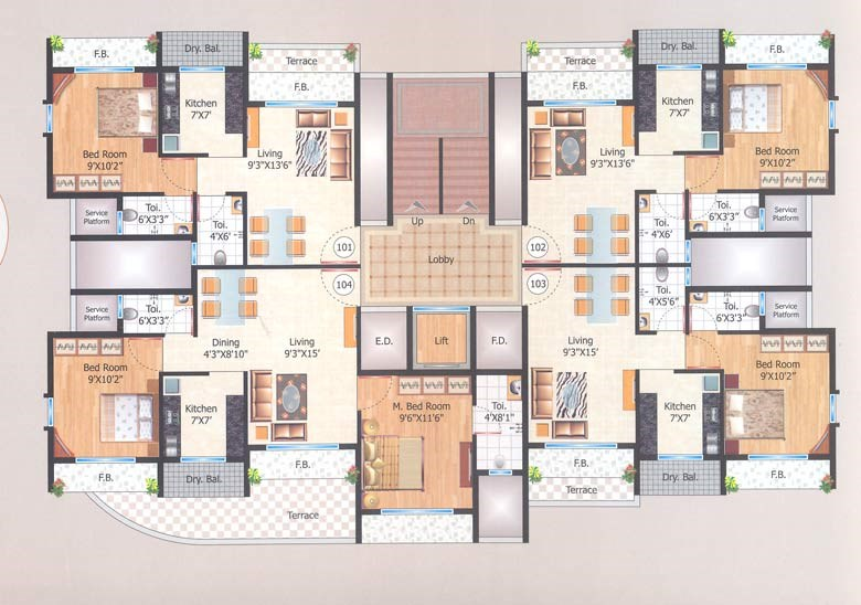Manas Residency Floor Plan I