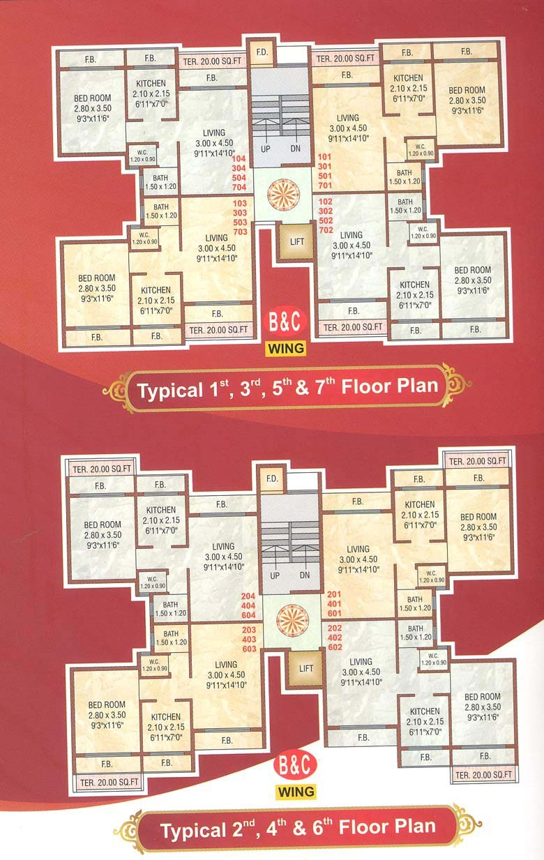 Taj Hills Floor Plan I