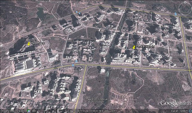 Omkar Heights Google Earth