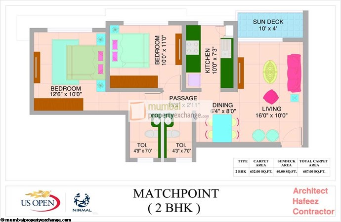 US Open Apartments Match Point Floor Plan