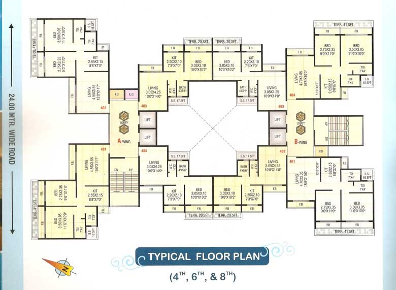 Sai Prasad Residency Floor Plan 3