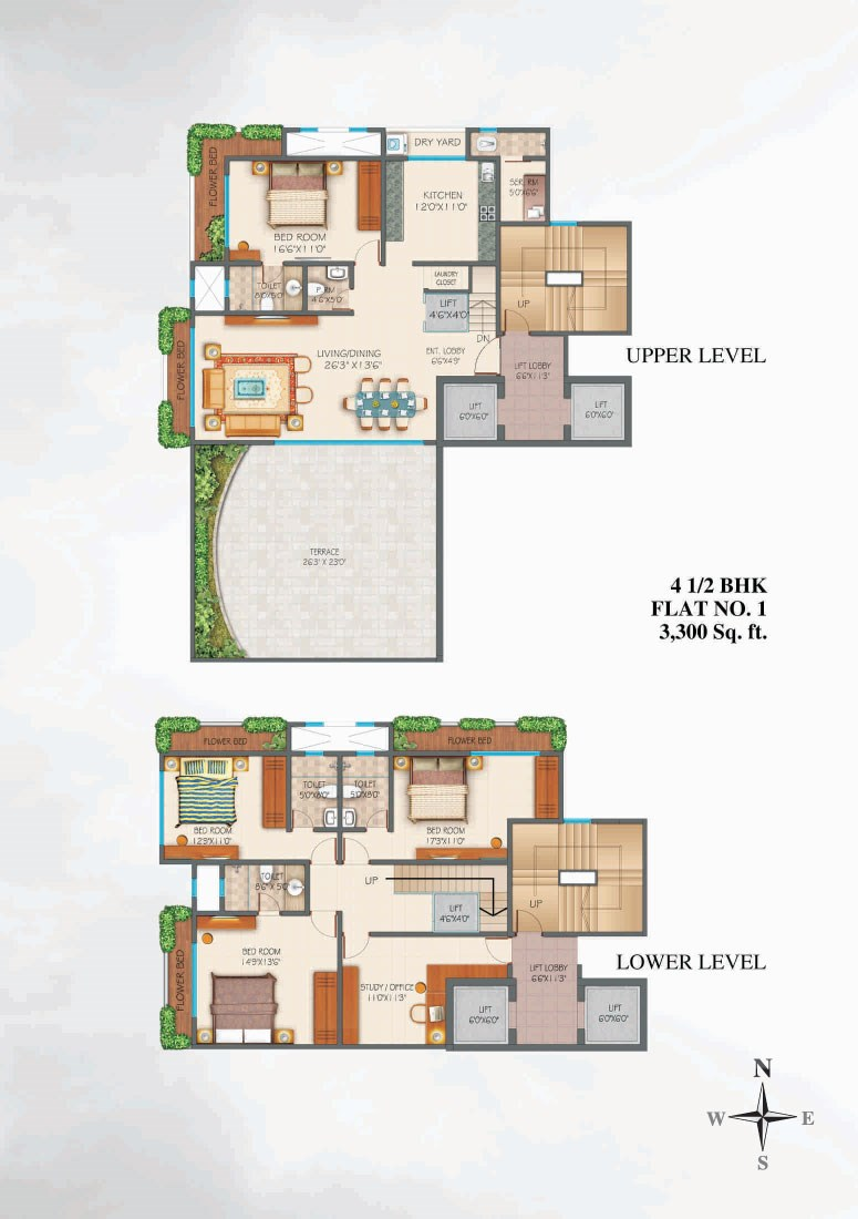 Zephyr 4.5 bhk apartment