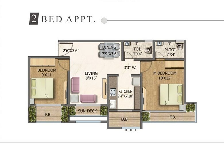 Space Residency 2 BHK