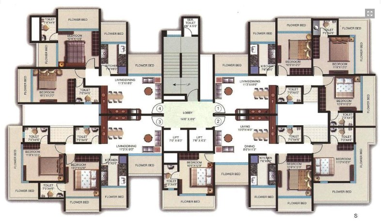 Vireshwar Heights Floor Plan