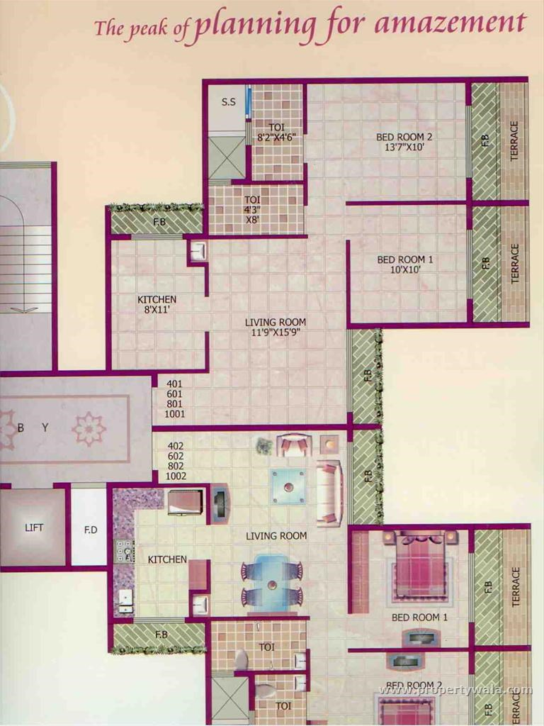 Mount Blanc Floor Plan IV