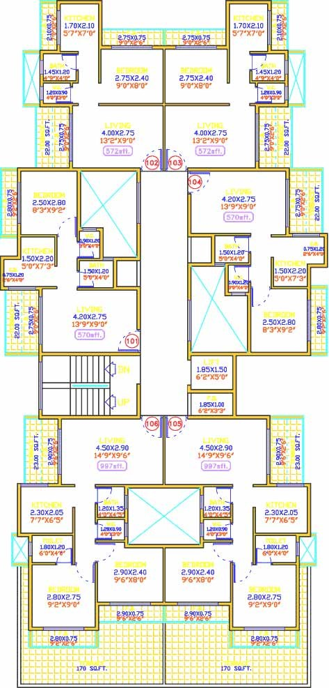 Shiv Prakash Residency Floor Plan 2
