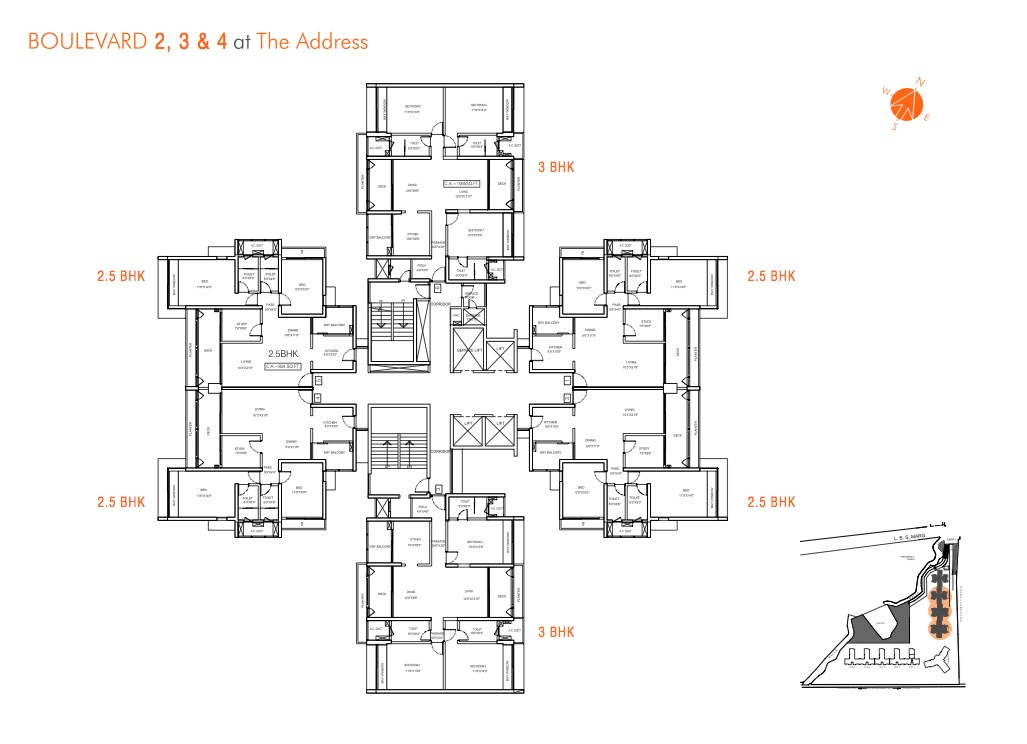 The Address Floor Layout Boulevard 2,3,4