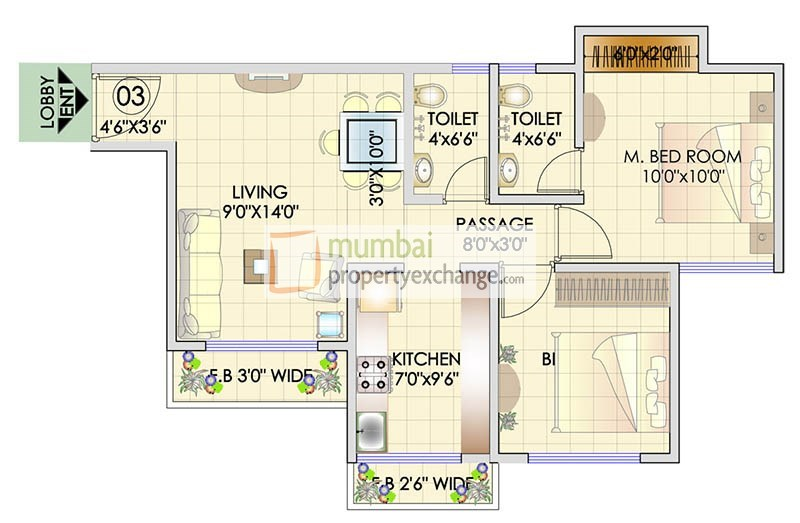 Residency Park Floor Plan 2