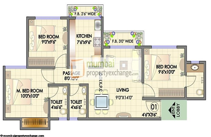 Residency Park Floor Plan 3