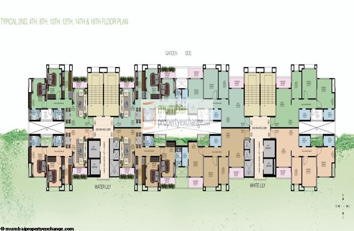 Water Lily and White Lily Floor Plan VII