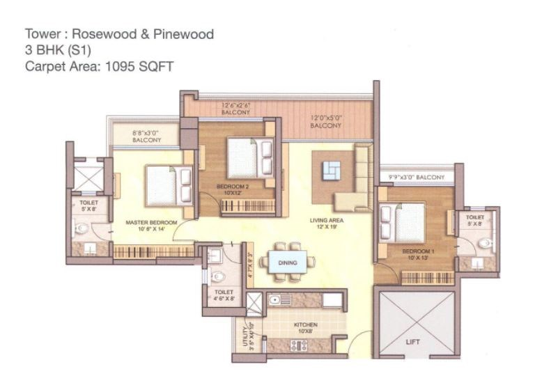 Runwal Greens Rose Wood Floor Plan