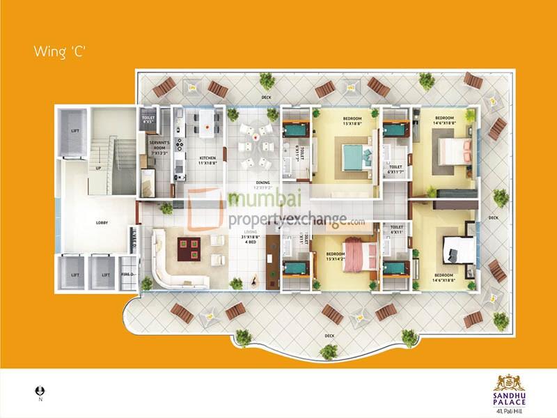 Sandhu Palace Wing A Project at Bandra West by Sandhu ...