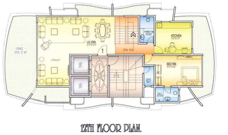 4599 Oth 12Th Floor Plan - Mangal Chhaya, Khar West
