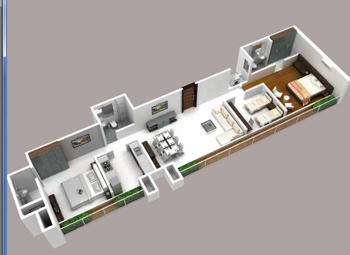 Conwood Astoria Floor Plan - 3 Bhk
