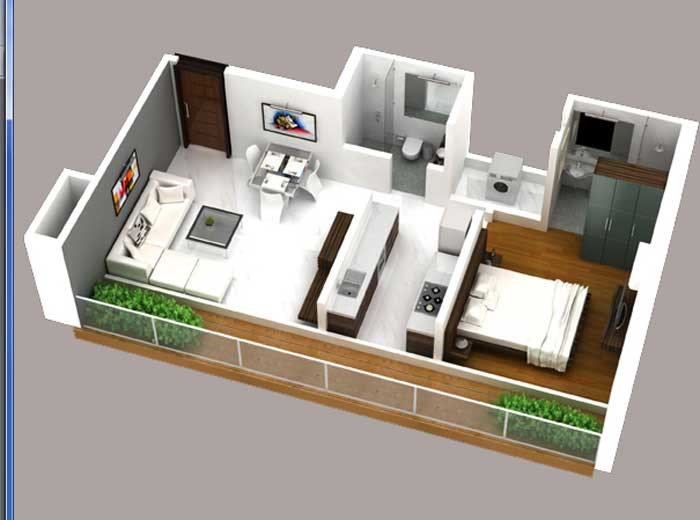 Conwood Astoria Floor plan - 1bhk