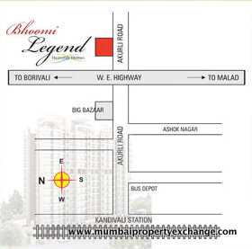 4656 Oth Location Map - Bhoomi Legend, Kandivali East