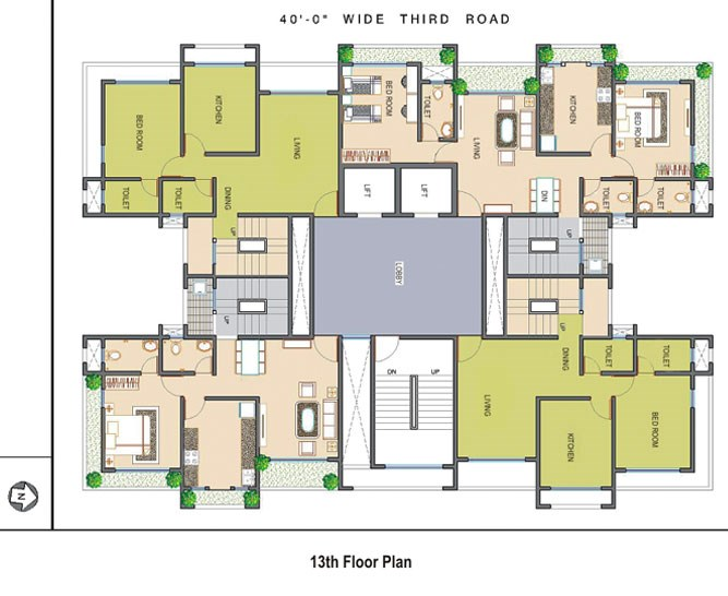 Ramee Heights 13th Floor Plan