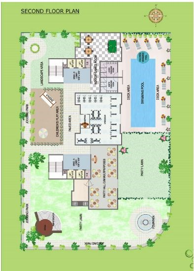 Green Palms floor plan .