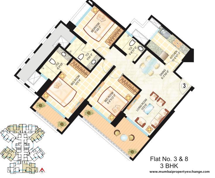 4841 Oth Floor Plan 2  - Dosti Ambrosia, Wadala