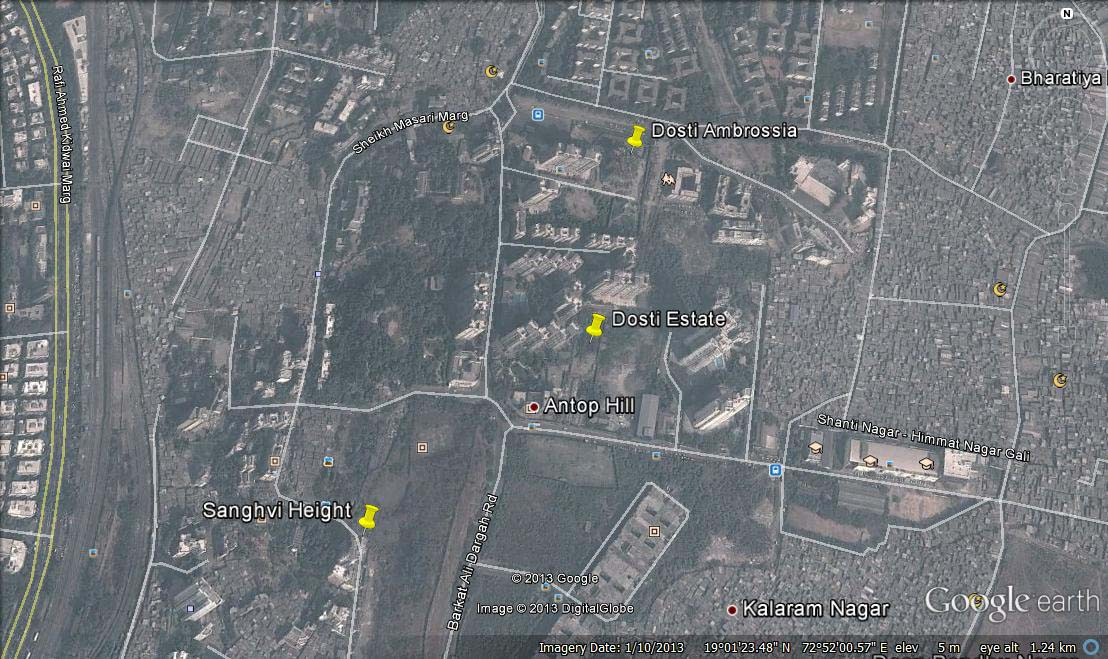 4841 Oth Google Earth - Dosti Ambrosia, Wadala
