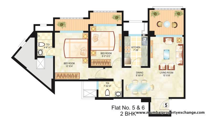 4841 Oth Floor Plan - Dosti Ambrosia, Wadala