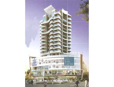 Flat on rent in Lotus Link Square, Malad West
