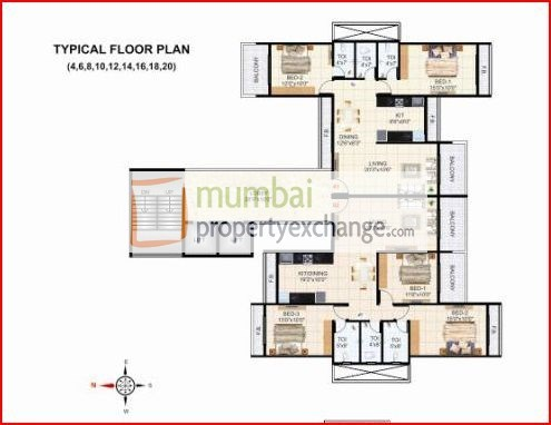Krishna Tower Floor Plan I