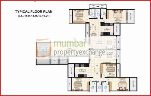 Krishna Tower Floor Plan II