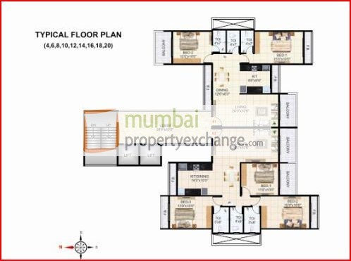 Krishna Tower Floor Plan III