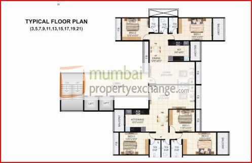 Krishna Tower Floor Plan IV