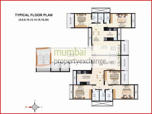 Krishna Tower Floor Plan V