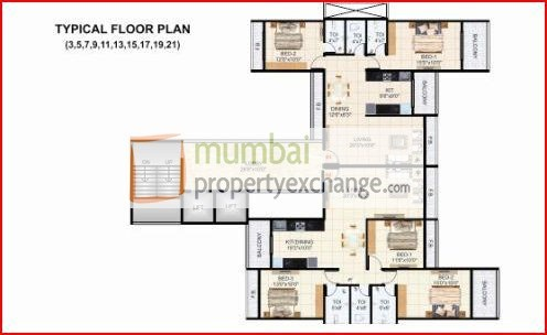 Krishna Tower Floor Plan VI