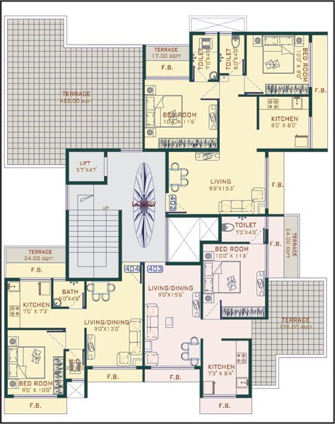Advance Plaza Floor Plan