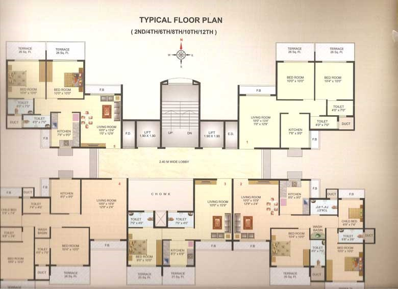 Ma Laxmi Heights Floor Plan 1