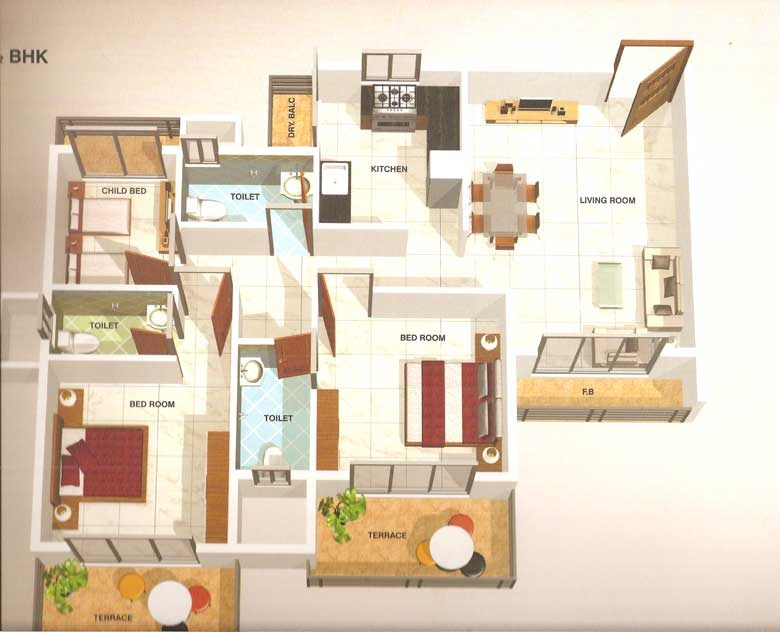 Ma Laxmi Heights Floor Plan 4