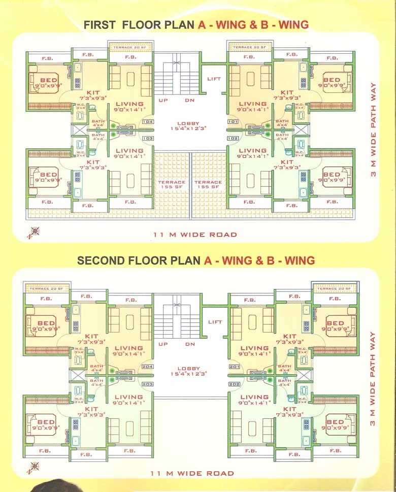 Pragati Heights Floor Plan 1