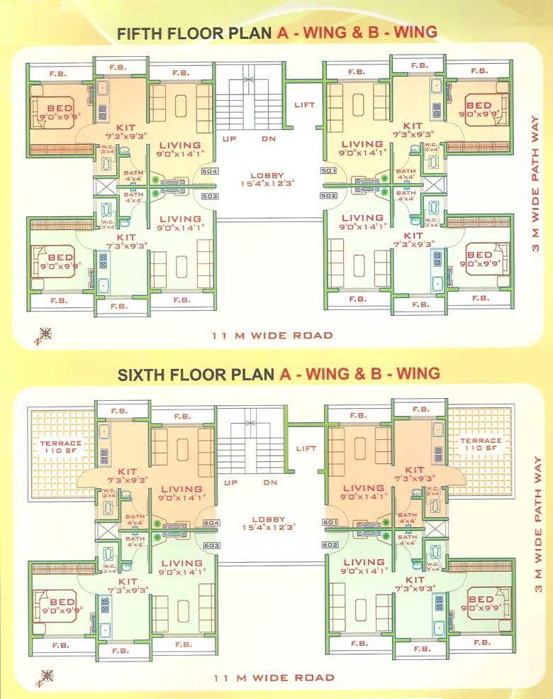 Pragati Heights Floor Plan 3