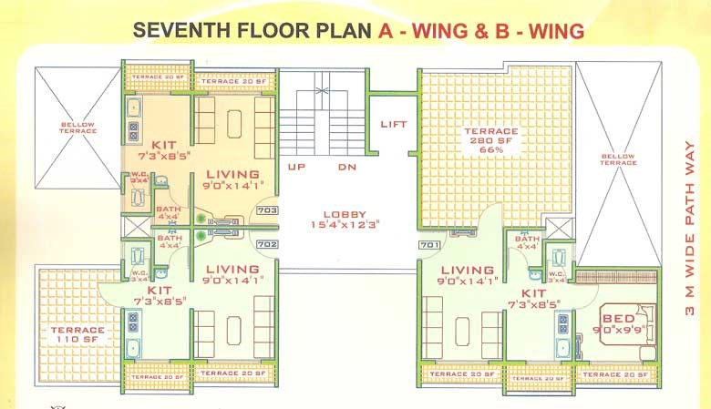 Pragati Heights Floor Plan 4