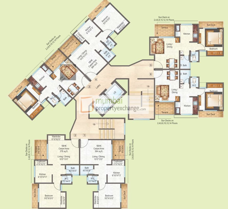Raunak City 2 Floor Plan