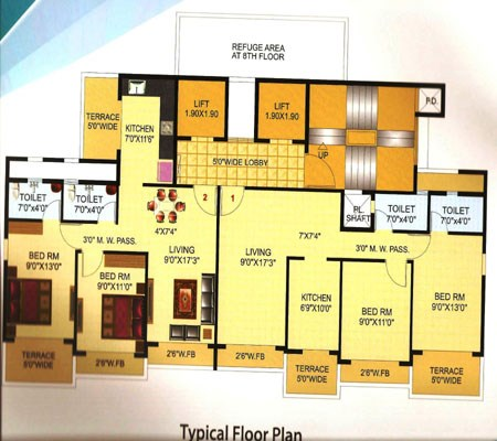 The Blue Crest Floor Plan 1