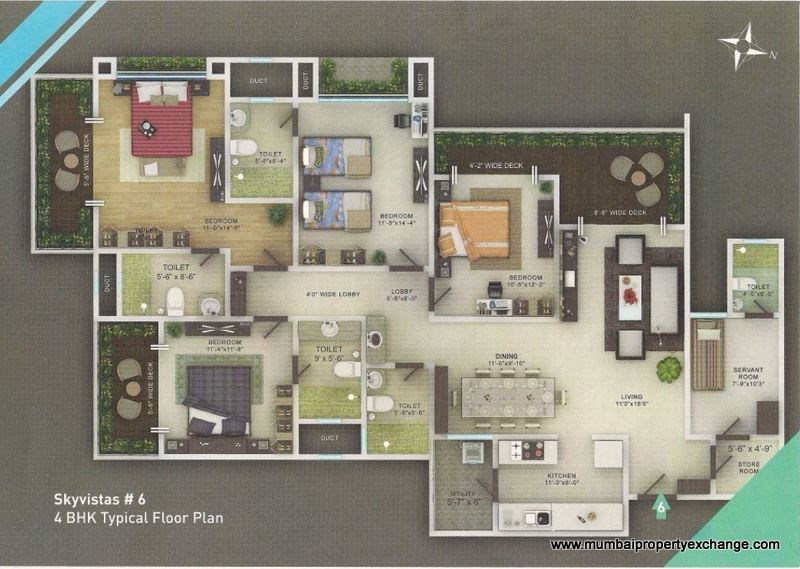 Sky Vistas Floor Plan 1