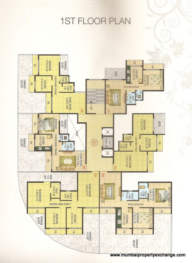 Mahakali Residency Floor Plan 1