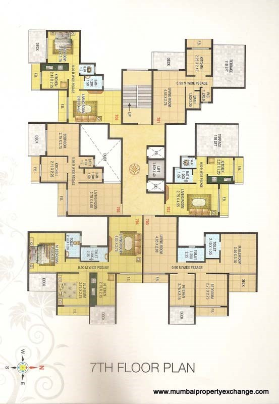 Mahakali Residency Floor Plan 3
