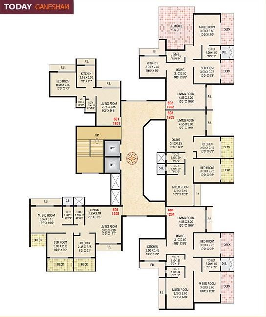 Today Ganesham Floor Plan