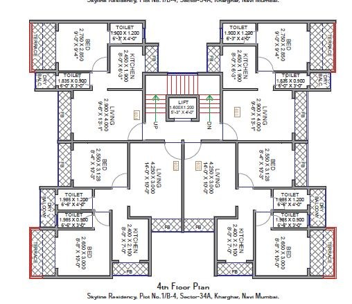 Skyline Residency Floor Plan