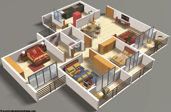 Nandanvan Homes 2.5BHK Floor Plan